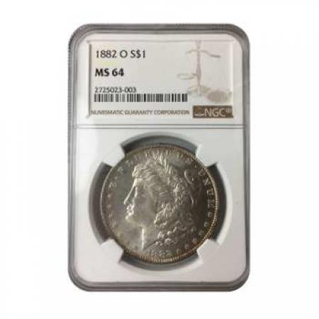 1882-O Morgan Silver Dollar NGC MS64