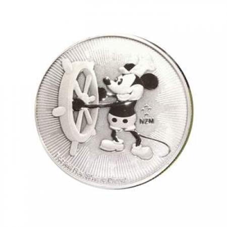 2017 1 oz Silver $2 Disney Steamboat Willie