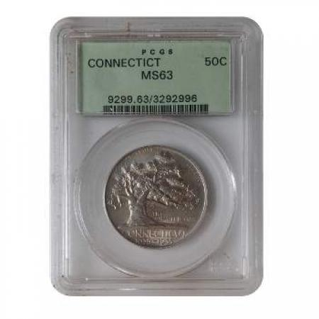 1935 Connecticut Half Dollar PCGS MS63