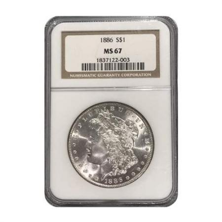 1886 Morgan Silver Dollar NGC MS67