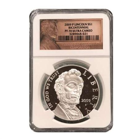 2009-P Lincoln Silver Dollar Proof NGC PF70