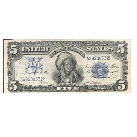 1899 $5 Indian Chief Silver Certificate