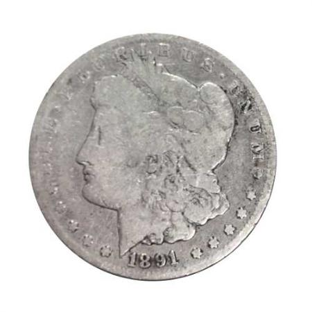 1891-CC Morgan Silver Dollar G
