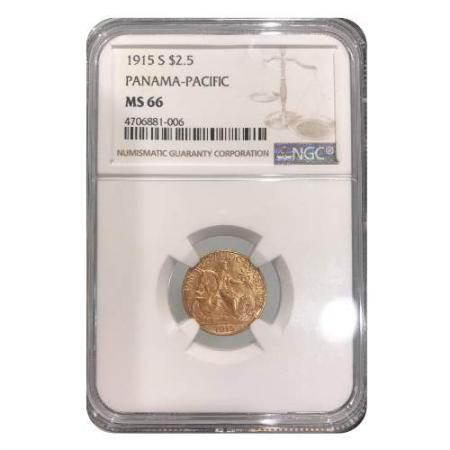 1915 S $2.5 Panama-Pacific NGC MS66