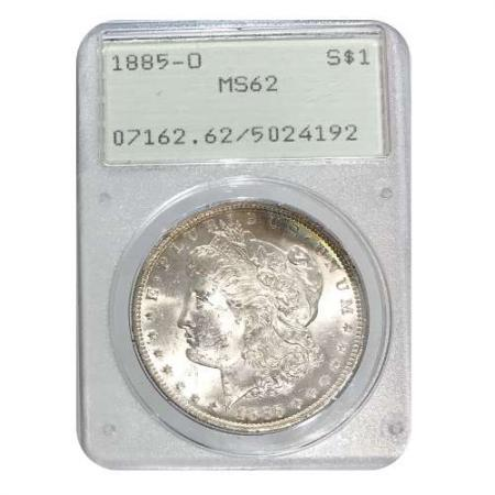 1885-O Morgan Silver Dollar PCGS MS62