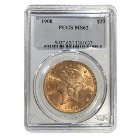 1900 $20 Gold Liberty PCGS MS62