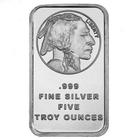 5 oz Buffalo .999 Silver Bar