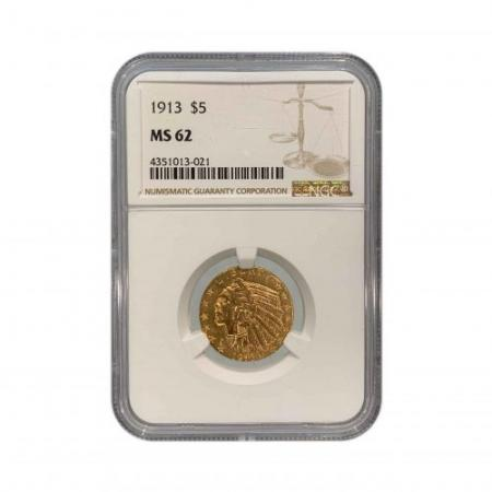 1913-$5-GOLD-INDIAN-MS62