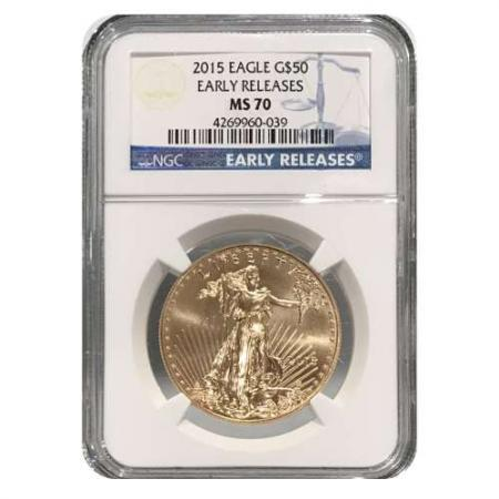 2015 1 oz Gold Eagle NGC MS70 ER