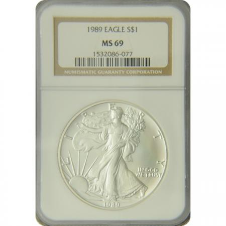 1989 Silver Eagle NGC MS-69
