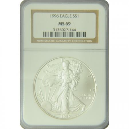 1996 Silver Eagle NGC MS-69