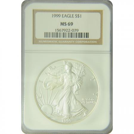 1999 Silver Eagle NGC MS-69