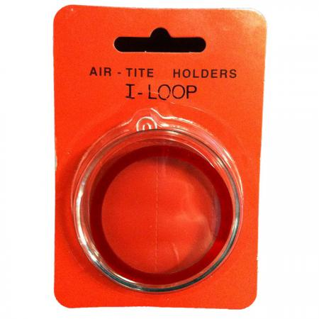Silver Round Ornament Holder - Red